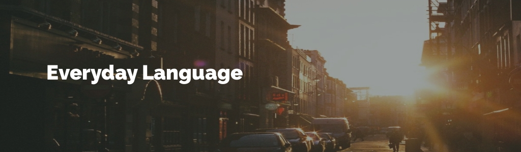 Everyday Language for English Learners