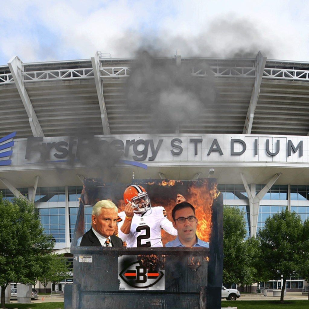 Cleveland Browns Dumpster Fire