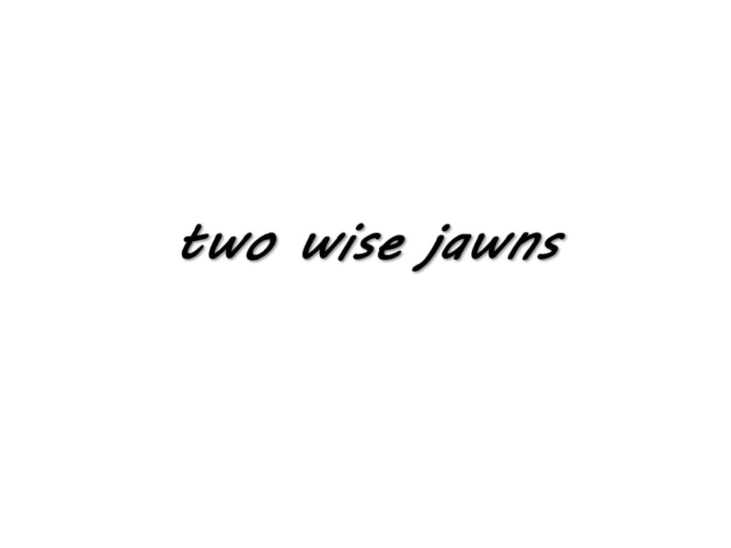 Two Wise Jawns