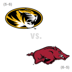 CFB: Missouri Tigers at Arkansas Razorbacks