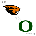 CFB: Oregon St. Beavers at Oregon Ducks