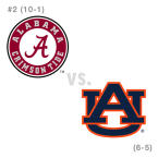 CFB: Alabama Crimson Tide at Auburn Tigers