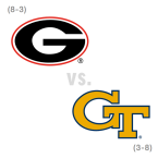 CFB: Georgia Bulldogs at Georgia Tech Yellow Jackets