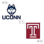 CFB: Connecticut Huskies at Temple Owls
