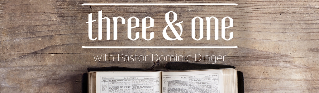 Three And One with Pastor Dominic Dinger