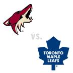 Arizona Coyotes at Toronto Maple Leafs