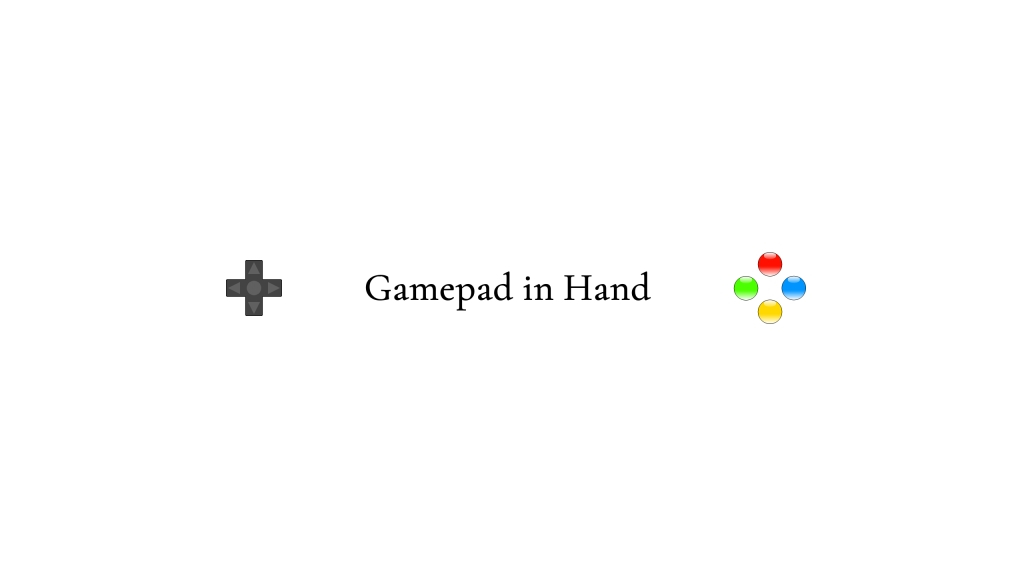 Gamepad in Hand